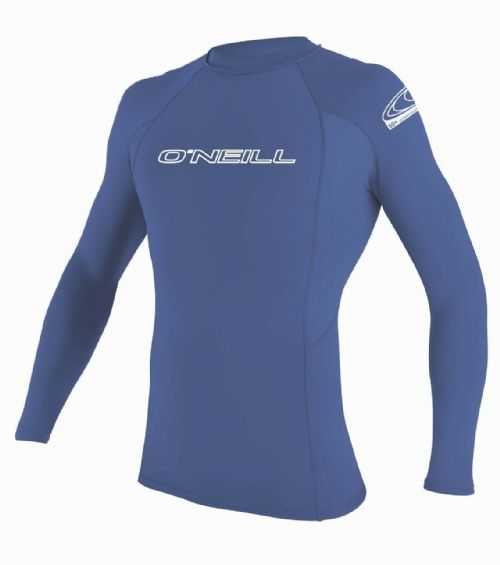 O'NEILL MENS RASH VEST.SKINS UPF50+ LONG SLEEVE CREW BLUE GUARD T SHIRT TOP S20